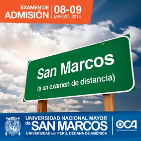 el examen de admision a la universidad nacional mayor de san marcos