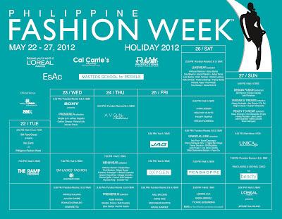 PFW 2012 Schedule