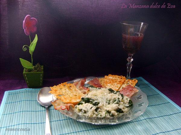 risotto de espinacas