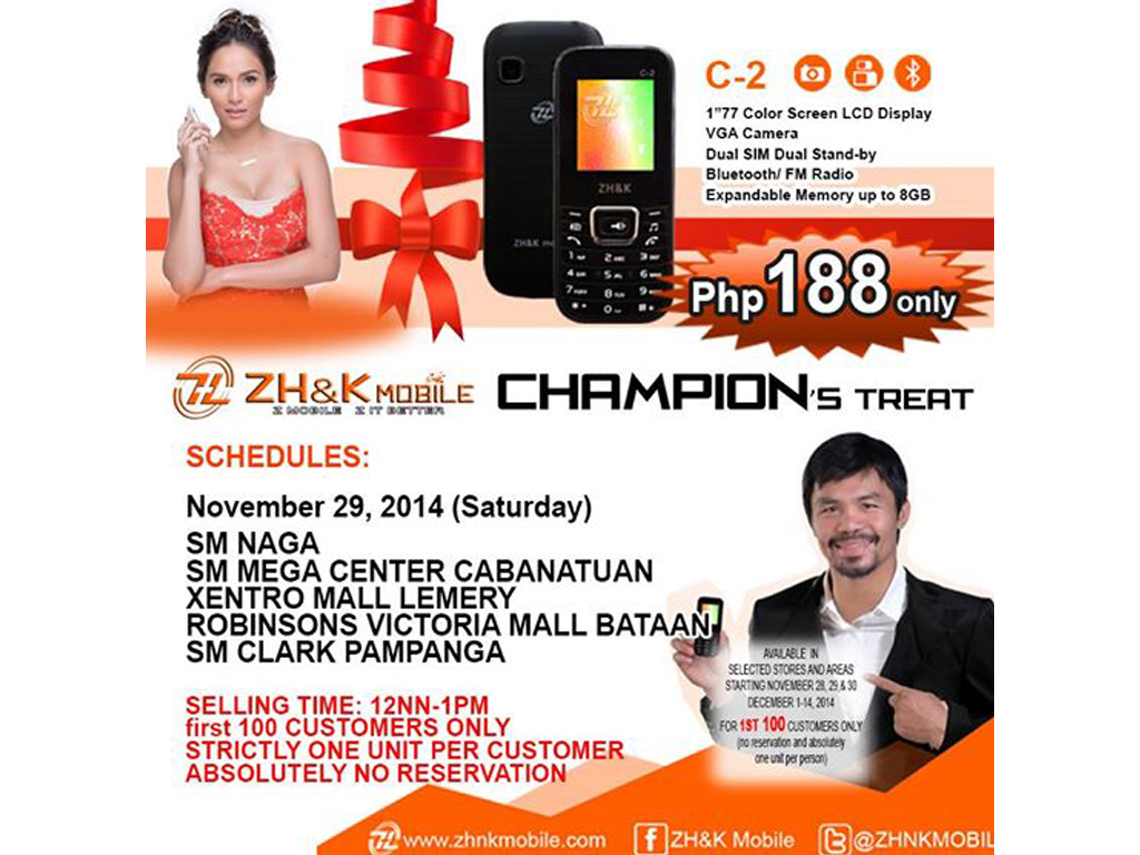Sale Alert: ZH&K Drops Price Of C-2 To Php 188 Only!