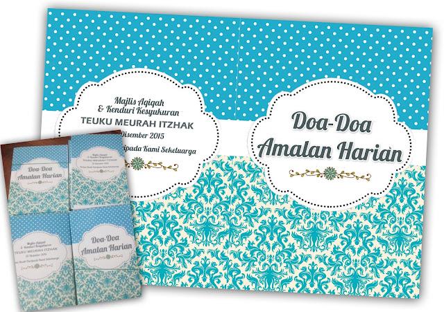 buku doa custom made
