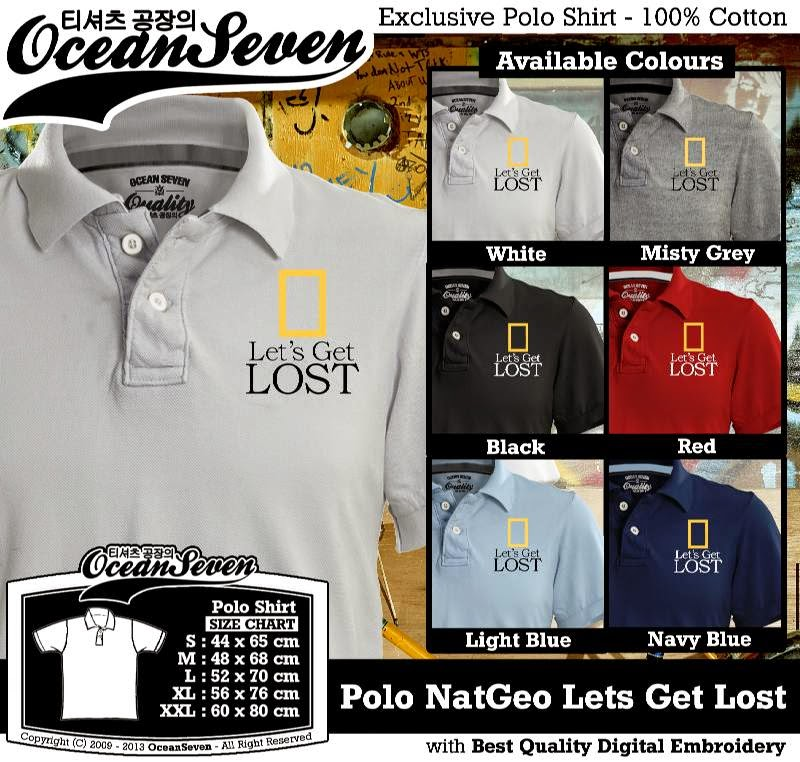 Kaos Polo NatGeo Lets Get Lost
