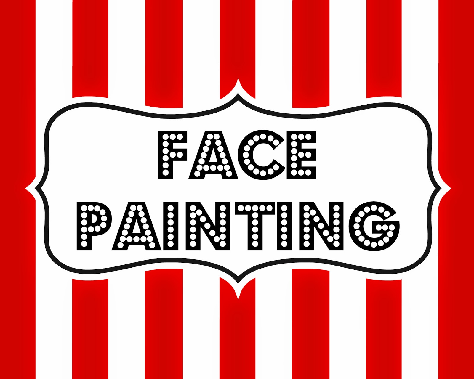 Gallery For gt Carnival Face Painting Sign