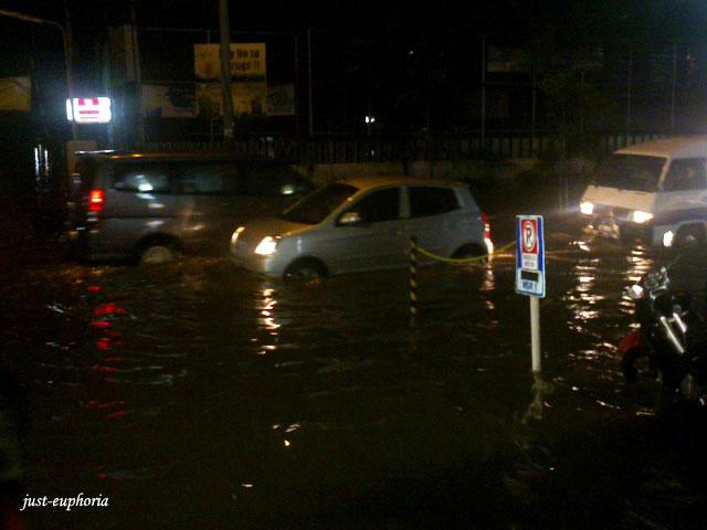 Jakarta after raining