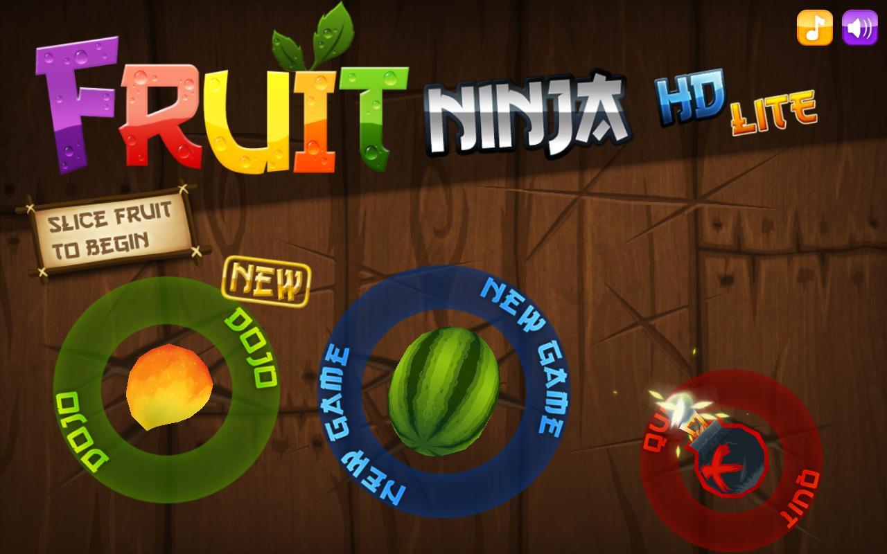 Cut fruits game -