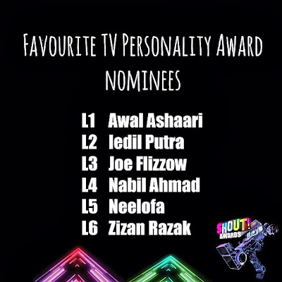 The Shout! Awards 2013 - Favourite TV Personality Award Nominees