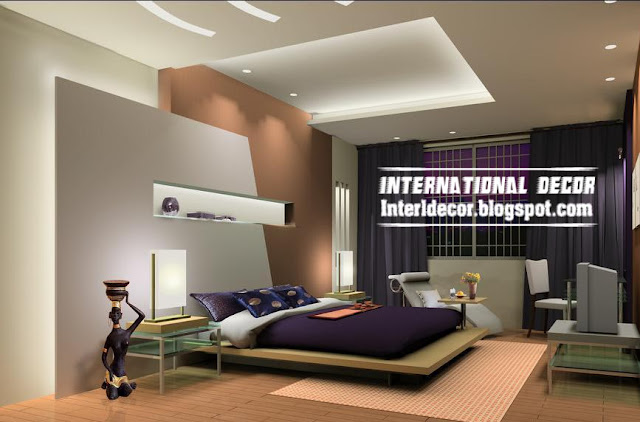 modern pop false ceiling designs for bedroom interior gypsum false