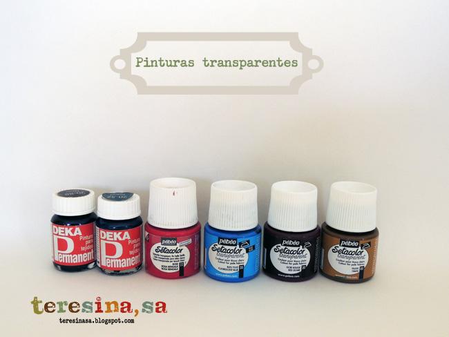 curso pintura en tela: transparentes