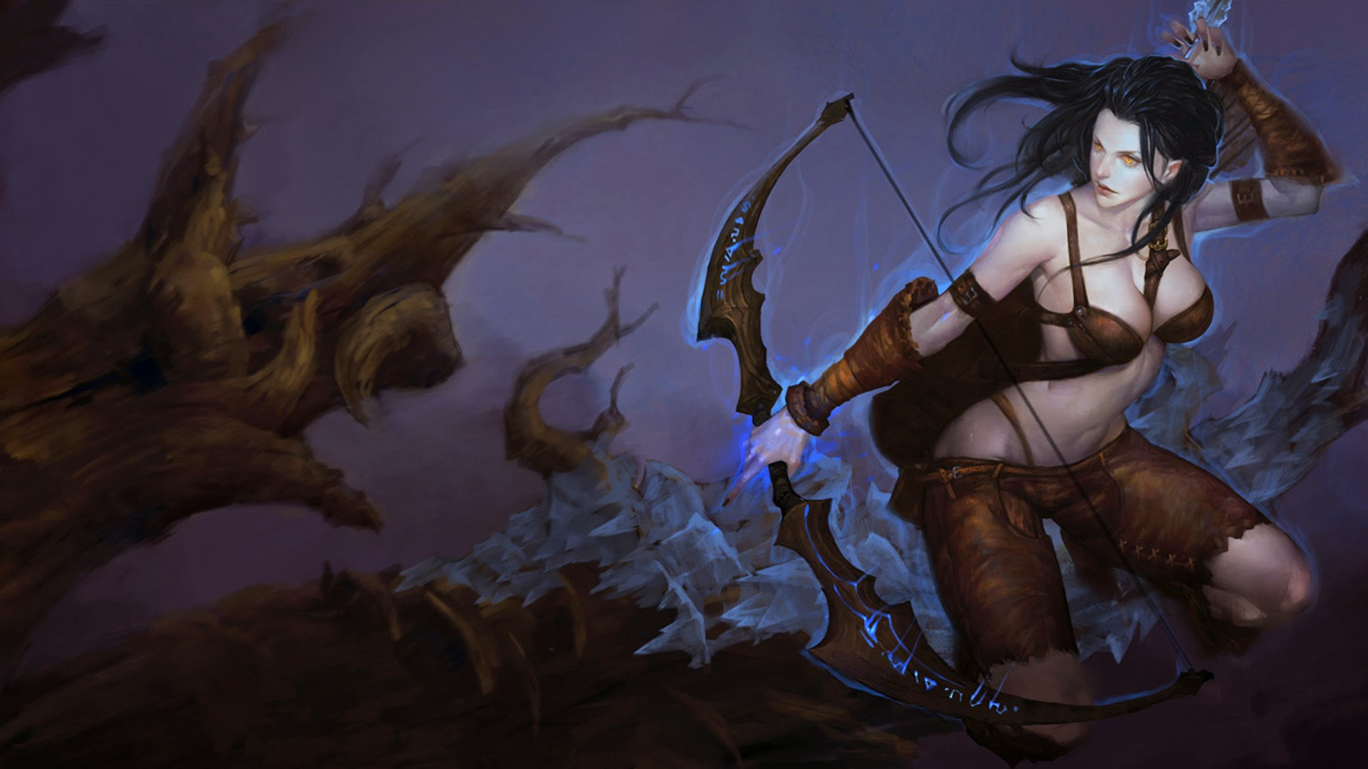ashe woad skin splash league of legends hd
