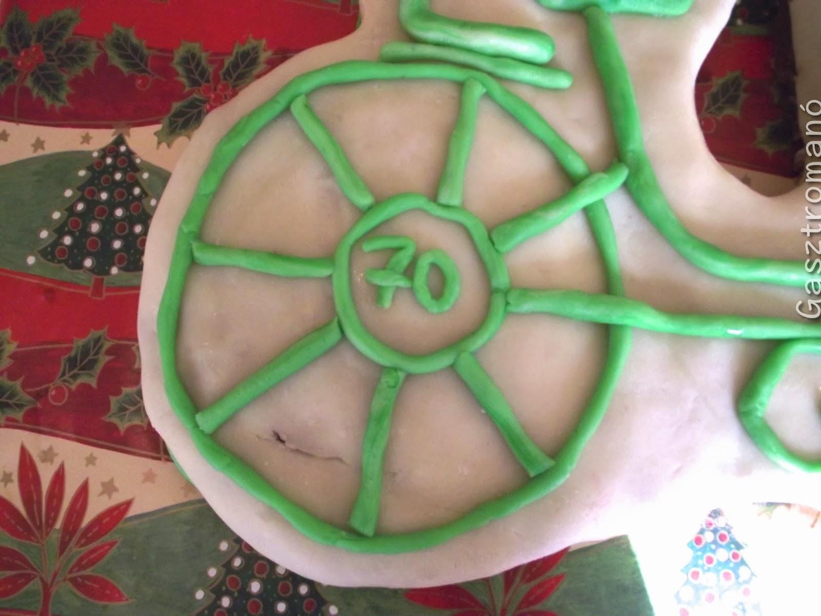 Bicikli torta készítés