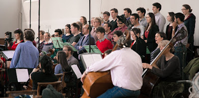 Serafine Chamber Choir and Sinfonia recording Oliver Tarney's Magnificat