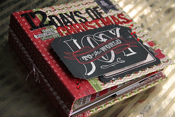 12 Days of Christmas Mini Activity Album @craftsavvy #craftwarehouse #christmas #minibook #diy