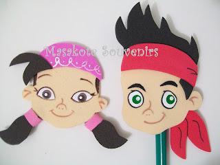 Masakote Souvenirs Infantiles: Jake y los piratas del Nunca Jamás