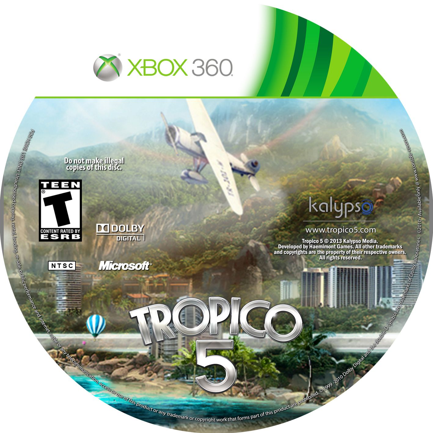 Label Tropico 5 Xbox 360