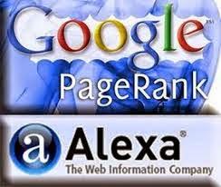 Google pagerank y Alexa