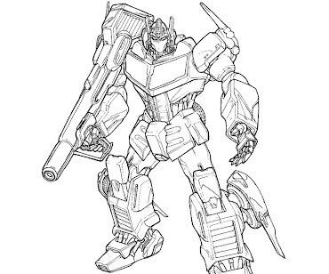 #18 Transformers Coloring Page