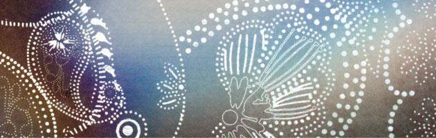 青系のボケた背景に白が映えるデザイン | 高級感あるペイズリー柄フリーテクスチャー素材
