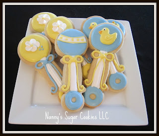 nanny 39 s sugar cookies llc cookie favors for a baby shower