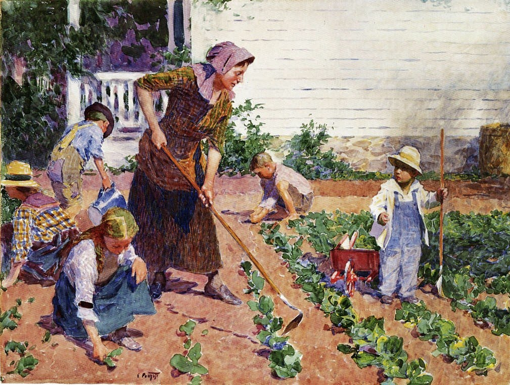 it s about time  19th century american kitchen garden
