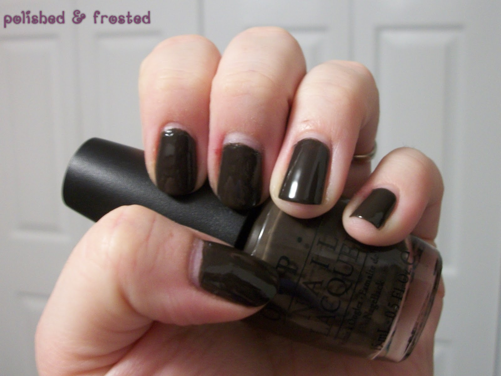 Opi Get In The Expresso Lane polished & frosted...
