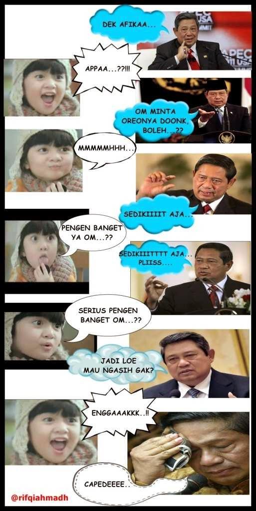 Meme Afika dengan SBY