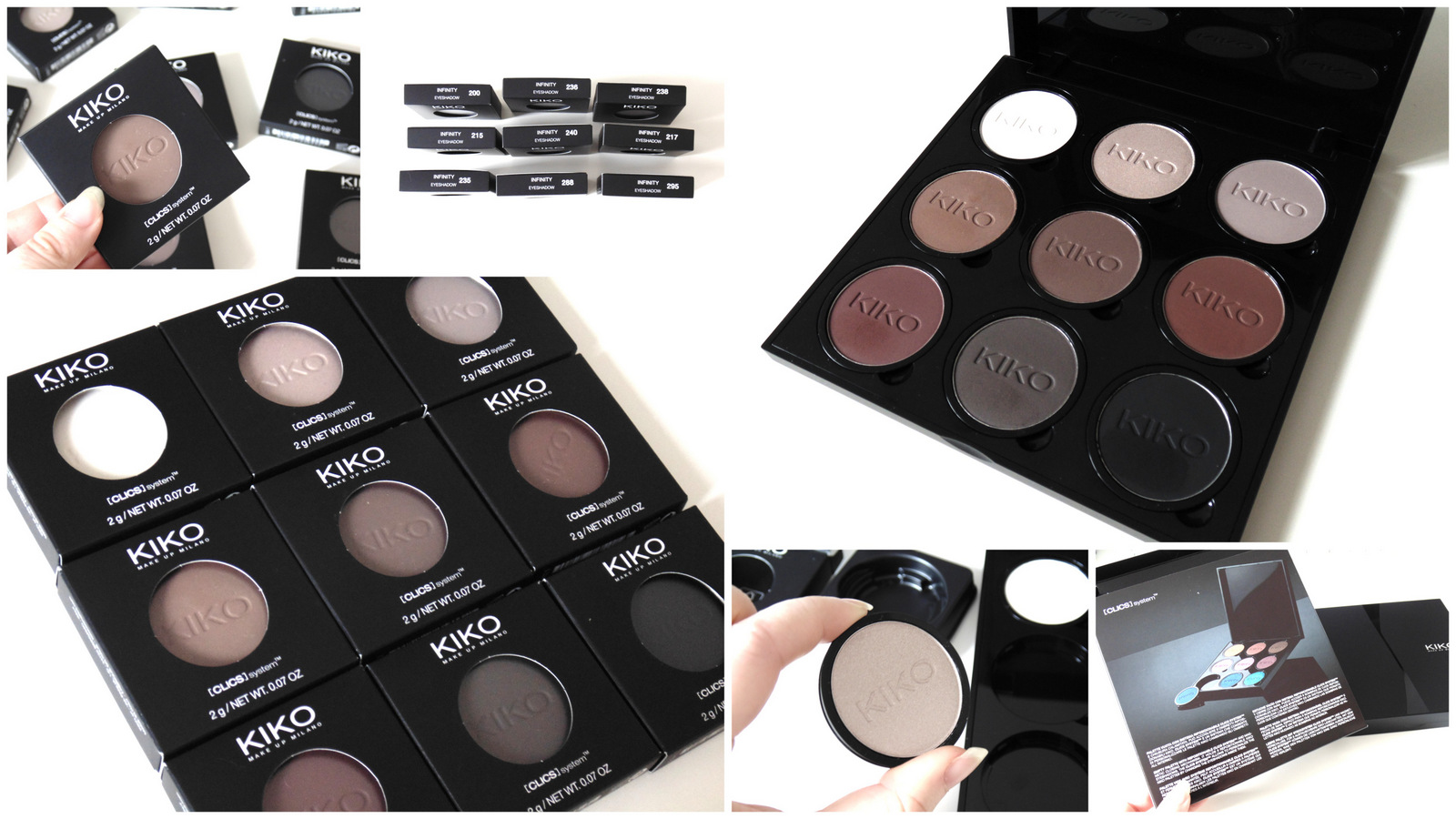 Kiko Clic Palette System + Infinity Eyeshadows