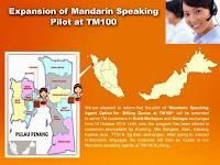 Expansion of Mandarin Speaking Pilot at TM100