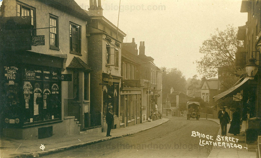 W Finch Leatherhead Postcards Then and Now...