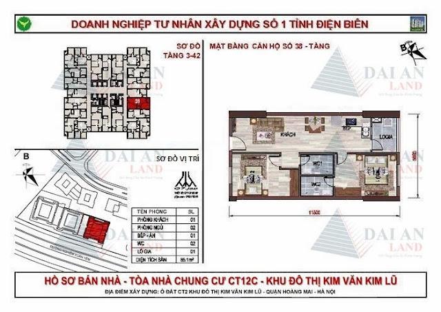 Căn 38 - Chung Cư Kim Văn Kim Lũ CT12C
