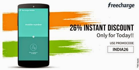 freecharge 26% discount offer
