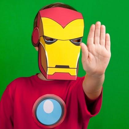 máscara homem de ferro para imprimir grátis