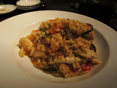 Seafood risotto at Alto Vino