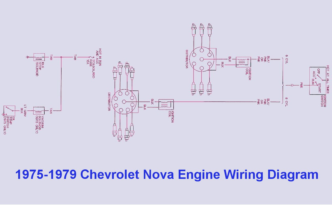 1975 1979 Chevrolet Nova Engine Wiring Diagram Auto