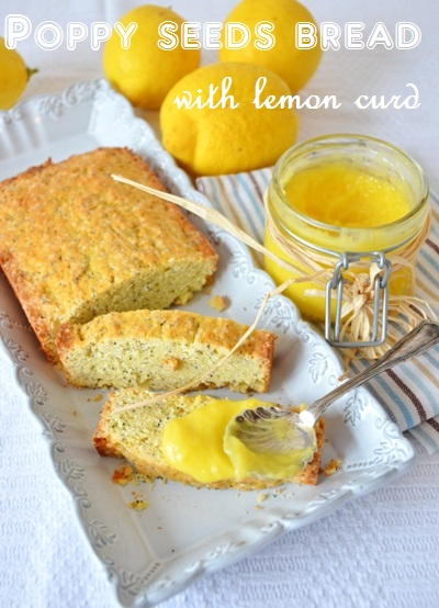The Green Paprika & Paprika: Poppy seeds bread with lemon curd