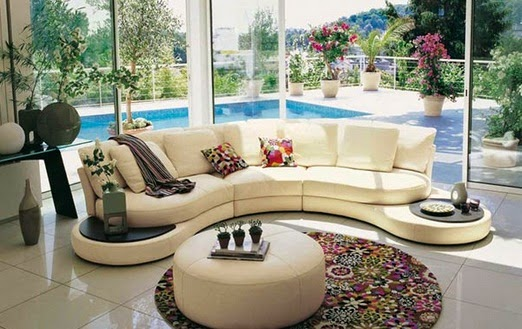 Contoh Desain Sofa Modern Ruang Tamu