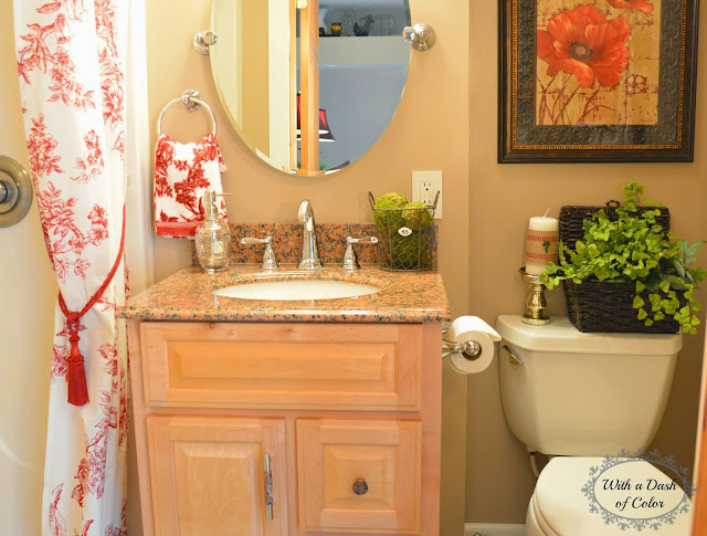 With A Dash Of Color: French Country Bathroom