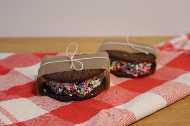 ice cream sandwich, sprinkles, sweet, dessert, cute, girly, delicious, homemade, recipe, chocolate, homemade ice cream sandwiches