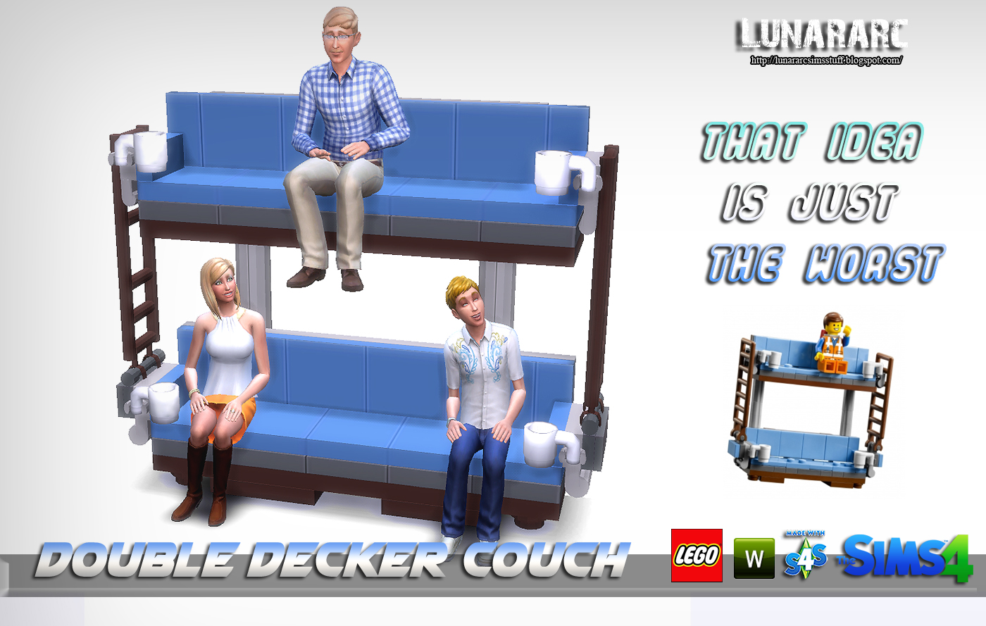 Lunararc Sims Double Decker Couch