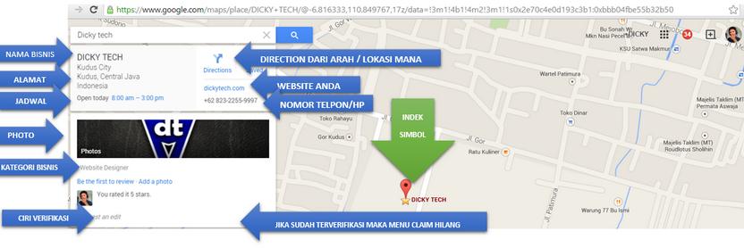 Cara membuat Lokasi Bisnis di google Map