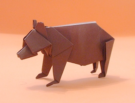 Origami Bear Montroll 3d Origami Instructions Art And Craft