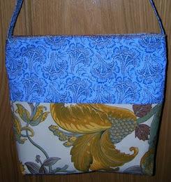 Bolso azul exótico