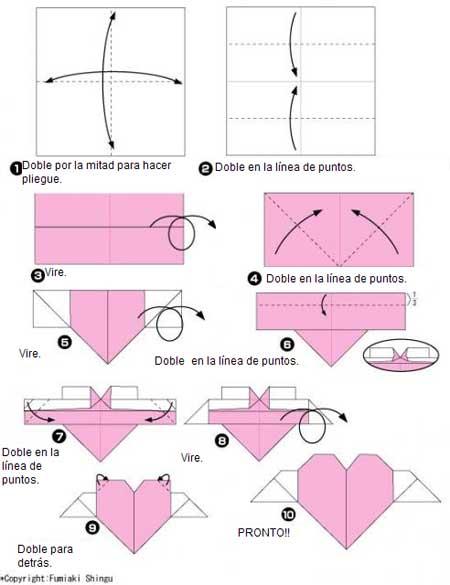 Corazon Con Alas El Arte Del Origami - Origami-corazn