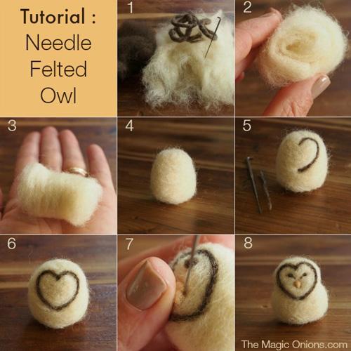 My owl barn easy needle felted owl diy tutorial - Needle felting design ideas ...
