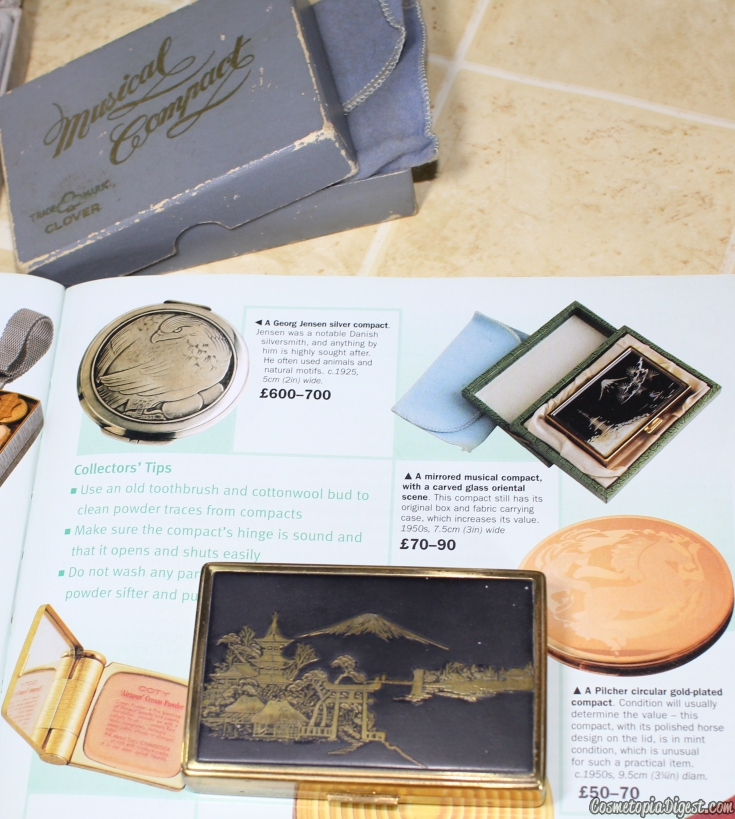 How and where to start collecting vintage powder compacts, and their prices and sources.