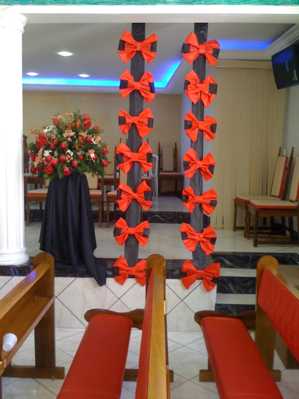 FARAGE  decoração de laços para ambiente  igrejafestas