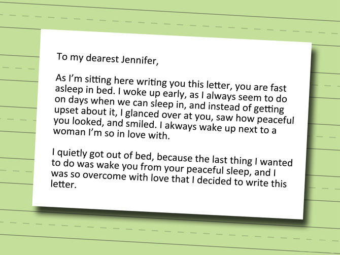 Write a Love Letter in Your Wife's Language