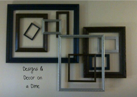 Designs Decor On A Dime Layered Frame Wall Art It 39 S Finally Complete