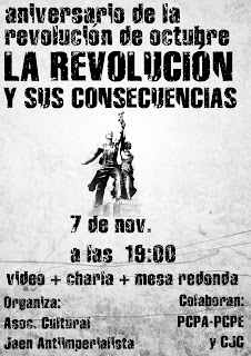 [La Rioja] CELEBRA CON EL PCPE Y LOS CJC EL 94 ANIVERSARIO DE LA REVOLUCIÓN BOLCHEVIQUE Jaen+octubre+19-00