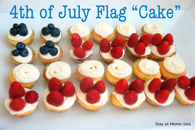 july 4th mini cupcake flag cake