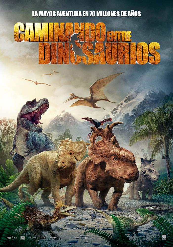 Cartel oficial de Caminando entre dinosaurios